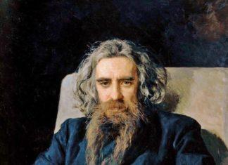 В. С. Соловьёв. Портрет работы Н. А. Ярошенко 1892 года